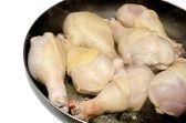 鶏の足を揚げる — ストック写真