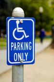 Handicap parking only sign — Stock Photo