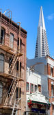 Different buildings in city — Stock Photo