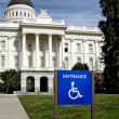 Sign of a handicap accessible — Stock Photo
