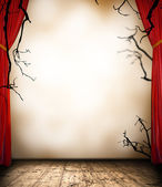 Scary curtain — Stock Photo