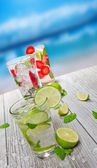 Mojito drinks — Stock Photo