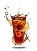 Cola splash — Stock Photo