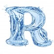 Stock Photo: Water letter