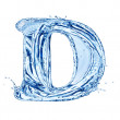 Water letter — Stock Photo #10654353