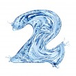 Water number — Stock Photo