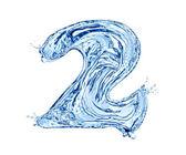 Vatten nummer — Stockfoto