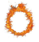 Fire ring — Stock Photo