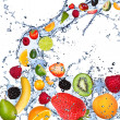 Fruits splash — Foto de Stock