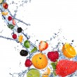 Stock Photo: Fruits splash