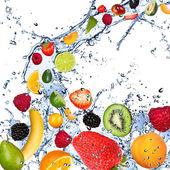 Früchte-splash — Stockfoto