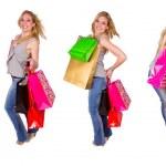 Girl shopping collection — Stock Photo #8859951