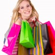 Girl shopping — Stock Photo