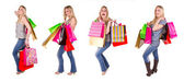 Girl shopping collection — Stock Photo