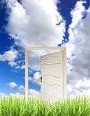 Door into new world — Stock Photo
