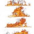Fire collection - Stock Photo