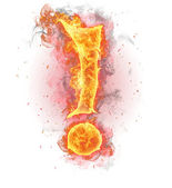 FIre exclamation mark — Stock Photo