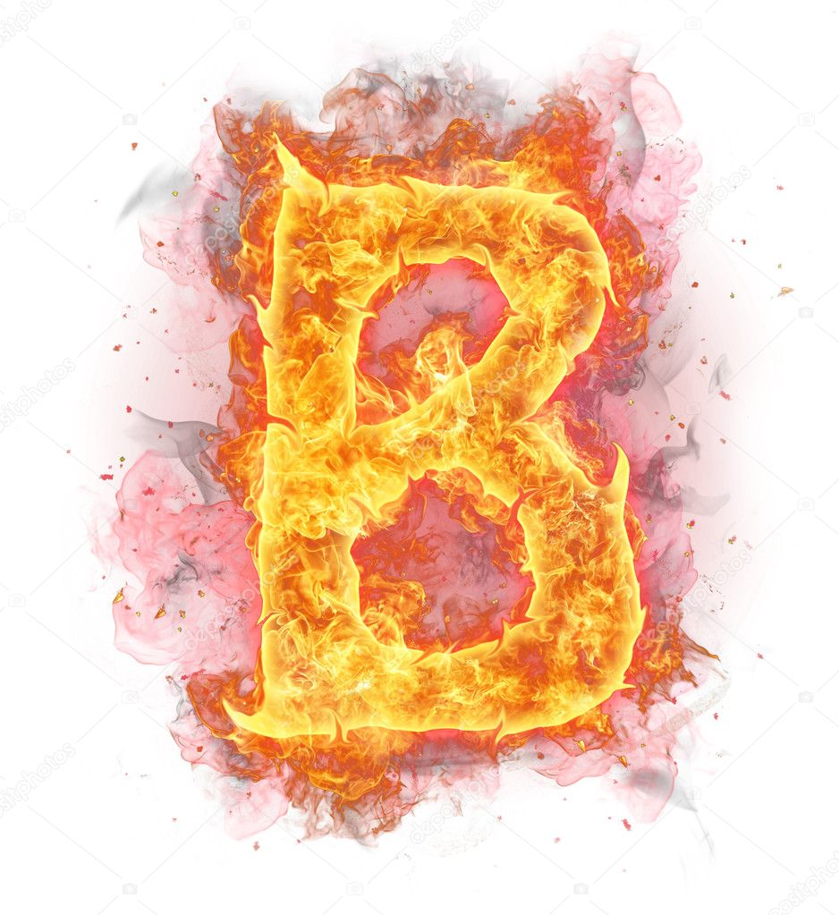Fire letter B — Stock Photo © jag_cz #8954489 Letter B Fire