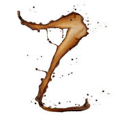 巧克力飞溅的信 — 图库照片