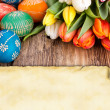 Easter greeting card — Stock Photo