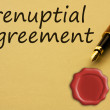 Getting a prenuptial agreement - Stock Photo