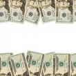 Money Border of twenty dollar bills — Stock Photo