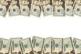Money Border of twenty dollar bills — Stock Photo