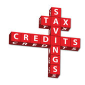 Tax Savings and credits — Stock Photo
