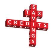 Tax Savings and credits — Stock Photo