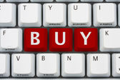 Buying on the internet — Stockfoto