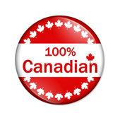 в канаде кнопка — Стоковое фото