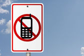 No Cell Phones while driving — Stock Photo