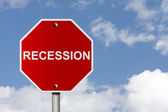 Stop the recession — Stock Photo