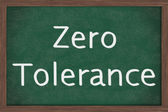 Zero Tolerance Policy at schools — Stock Photo