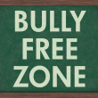 Bully Free Zone at schools — Stock Photo