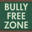 Bully Free Zone at schools — 图库照片