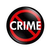 No Crime button — Stock Photo