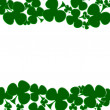 Shamrock background — Stock Photo