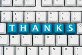 Ti ringrazio per lo shopping online — Foto Stock