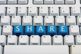 Sharing your information — Stock Photo