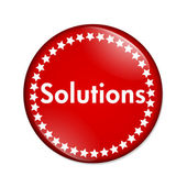 Solutions button — Stock Photo