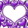 Stock Photo: Purple Hearts background