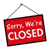 We are closed sign — Stock Photo