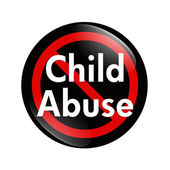 No Child Abuse button — Stock Photo