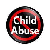 No Child Abuse button — Stock Photo