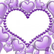 Purple Hearts background — Stock Photo #9192236
