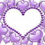 Purple Hearts background — Stock Photo