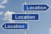 Real estate es todo acerca de la ubicación — Foto de Stock