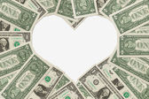 The love of money — Stock Photo
