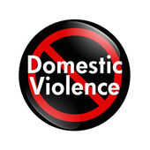 No Domestic Violence button — Stock Photo